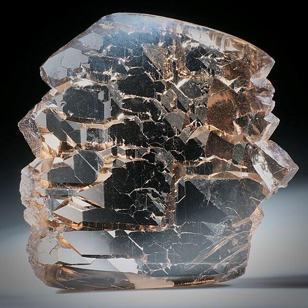Bergkristall Gwindel Schweiz, ca.75x80x20mm, Eine Seite der Torsion nachgeschliffen