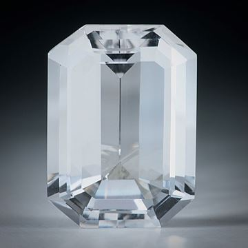 schweizer Bergkristall facettiert, 14.94ct. Smaragdschliff ca.19x14x8.5mm