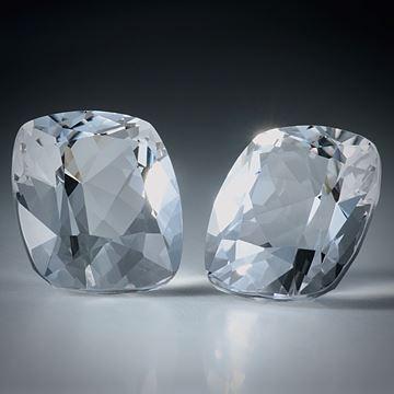 schweizer Bergkristall facettiertes Paar, total 26.41ct. Kissenschliff ca.16.5x14x10mm