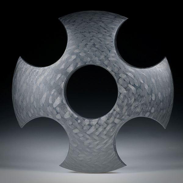 Karbon Kreuz ca.58x58x8mm, Oberseite bombiert und fein matt