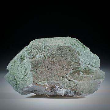Bergkristall Gwindel mit Chlorit, Schweiz, ca.70x40x20mm