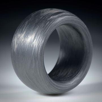 Karbonring parallele Form, innen und aussen bombiert, Breite 15.5mm