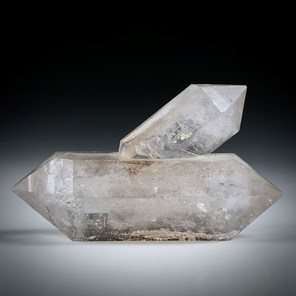 Bergkristall Doppelender (China) ca.46x27x15mm