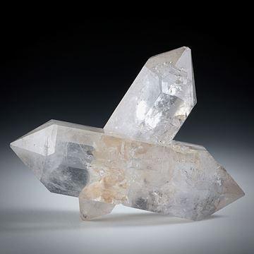 Bergkristall Doppelender (China) ca.44x36x20mm