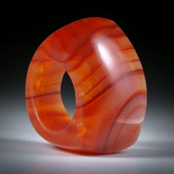 Edelsteinring Karneol, Tafelring ca.37x31x27mm