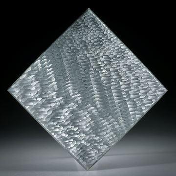Alutex Viereck in Torsion geschliffen, fein matt, ca.37x37x3mm
