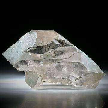 Bergkristall Gwindel Schweiz, ca.100x50x40mm