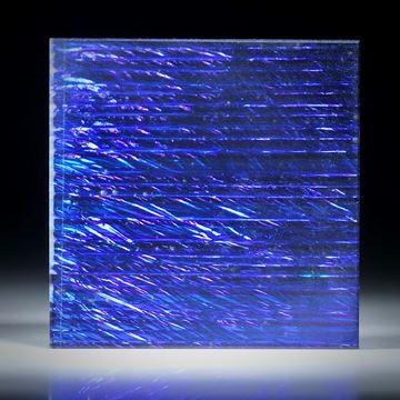 Opalglas Viereck, 39x39x5mm, Ultramarinblau metallic