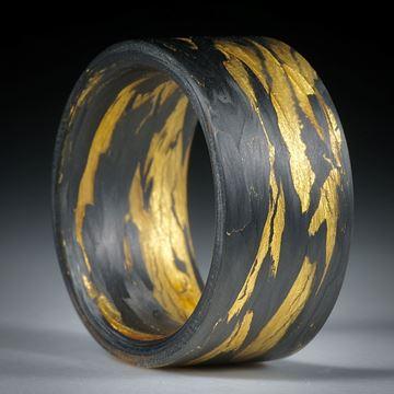 Karbonring gewickelt mit Glasfaser und Blattgold