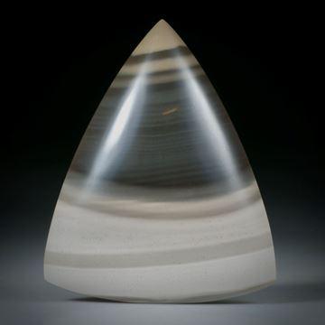 Feuerstein Dreieckform, bombiert und poliert ca.48x39x8mm