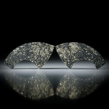 Pyritschiefer Grindelwald, Paar mit gespaltener Oberfläche