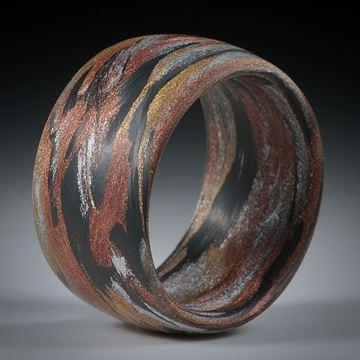 Karbon handgewickelt mit Glasfaser Bronze, Kupfer und Alu (V9)