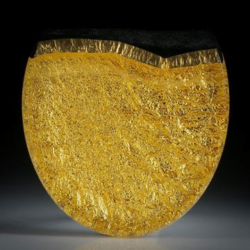 Goldglas (Fusingglas mit eingebranntem Blattgold 23.75ct.)