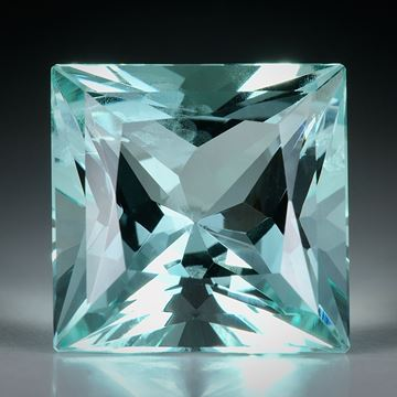 Aquamarin Princess Cut ca.13x13x9mm 9.32ct.