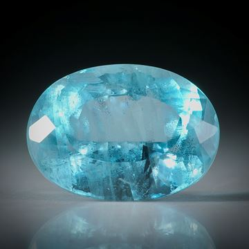 Aquamarin oval facettiert 7.62ct.  15x11x8mm