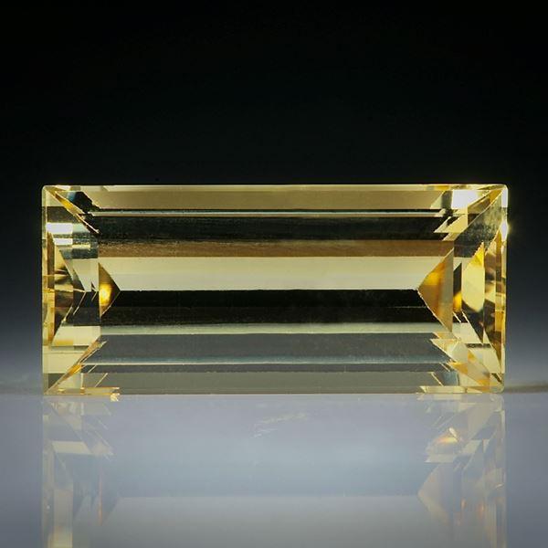 Goldberyll Treppenschliff 3.34ct.  14x6x5mm