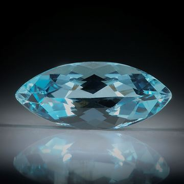 Aquamarin Navette facettiert 1.74ct.  12.5x5.5x4.5mm