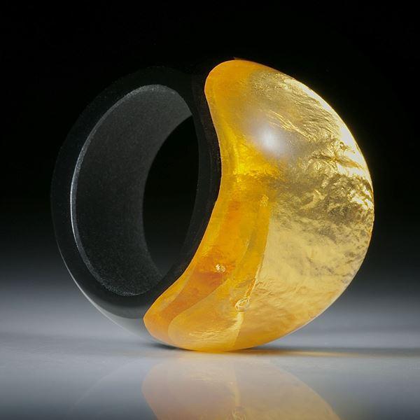 Fingerring Goldglas (Glas mit eingeschmolzenem Gold 23.75ct.)
