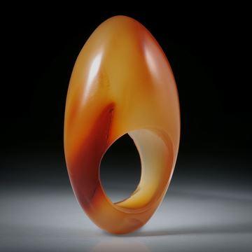 Edelsteinring Karneol mit natürlicher Farbe, hoch geschliffener Ring