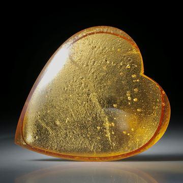 grosses Goldglas Herz (Glas mit eingeschmolzenem Gold 23.75ct.) ca.62x55x12mm