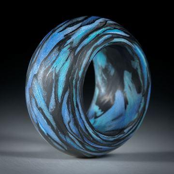 "Karbonring mit Glasfaser ""V1"", breiter bombierter Ring"