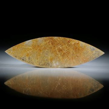 Rutilquarz Navette in Torsion geschliffen, beidseitig poliert ca.69x22x5mm