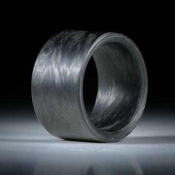 Carbonring handgewickelt, Innenkanten gerundet, Breite 15mm