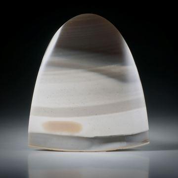 Feuerstein Freiform ca.36x31x6mm