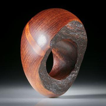 Wurzelholz Ring mit naturbelassener Seite, Innendurchmesser 18mm