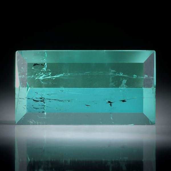 Turmalin Spiegelschliff 15.22ct.  21.3x11.4x7.6mm