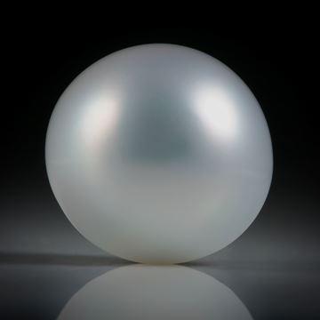 Südseeperle grau, rund, ungebohrt, Durchmesser 13.6mm