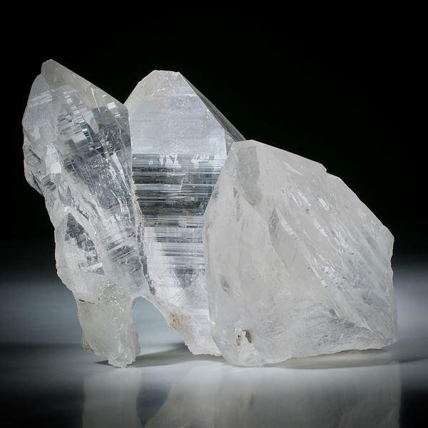 schweizer Bergkristall Gruppe ca.87x82x62mm