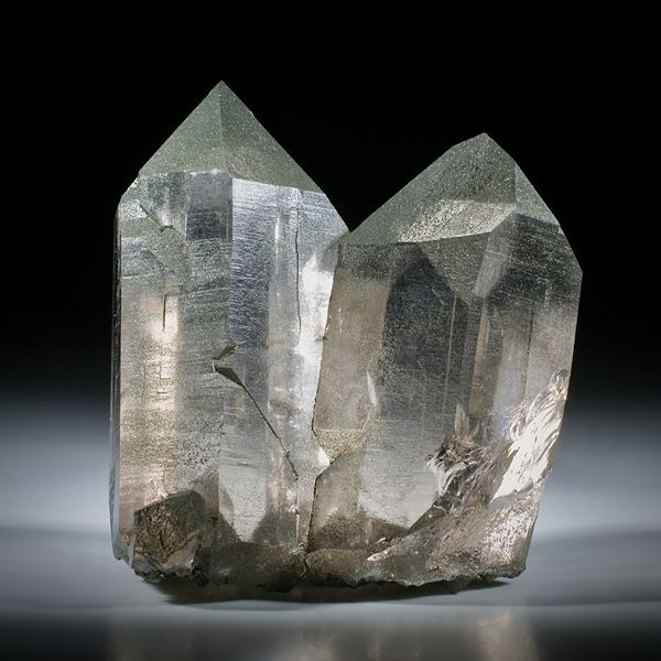 schweizer Bergkristallstufe Rauchquarz ca.81x70x37mm