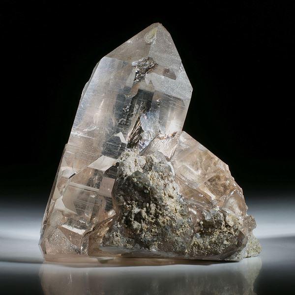 schweizer Bergkristallstufe Rauchquarz ca.103x97x65mm