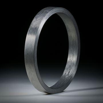 Karbon Armreif rund, Rechteckprofil 9.5x4.5mm, Innendurchmesser 65.3mm