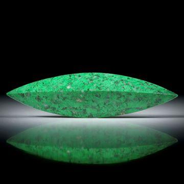 Maw sit sit, Mawesit oder Jadealbit, polierte Navette mit gebogener Kante ca.65x17.5x9mm