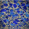 Armreif Lapislazuli in Bronzematrix, Flachprofil poliert mit gerundeten Innenkanten, Breite 31mm, Innendurchmesser 66.5mm