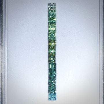Turmalin viereckig facettiert, Set aus 13 Steinen, 5.03ct. je ca.4x4mm