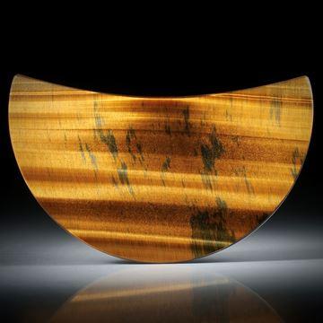 Tigerauge, polierte Sichelform, konkav geschliffen ca.63x35x8mm