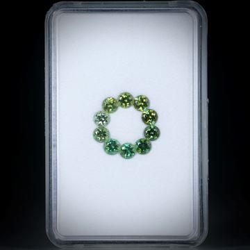 Turmaline, rund facettiert 10 Stk. 2ct. Durchmesser ca. 3mm