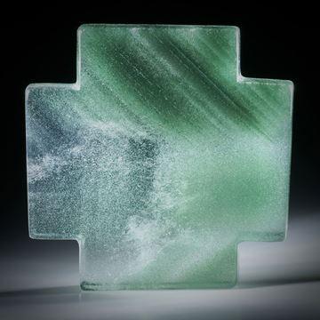 Bergkristall Kreuz mit Chloritphantom ca.46x46x7.5mm
