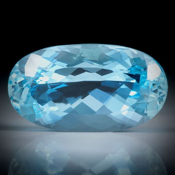 Aquamarin oval facettiert, 9.56ct.  ca.19x10.5x8mm