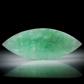 Jade Navette (Jadeit) 60.4ct. transluzent, ca.68x27x4mm