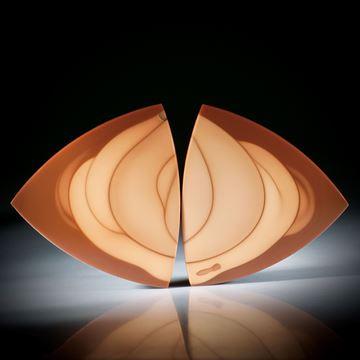 Bruneaujaspis Paar 67.27ct.  dreieckige Form, leicht bombiert und poliert je ca.42x38x3mm