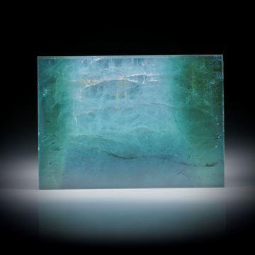 Turmalin mit Perlmutter unterlegt 51.06ct.  Rechteck flachgeschliffen und poliert ca.38x27x3.5mm