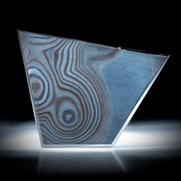 Psilomelan 34.81ct.  Trapezform flach geschliffen und poliert ca.43x31x2.3mm