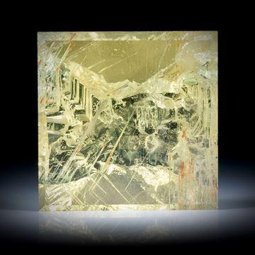 Goldberyll Ukraine 79.6ct. Spiegelschliff mit naturbelassener Kristallfläche ca.28x28x14mm