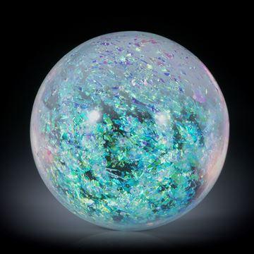 Opalglas Cabochon, runde Form, hoch bombiert ca.30x30x17.5mm,
