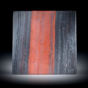 Bluteisenstein Viereck, in Torsion geschliffen, feinmatt ca.31.5x31.5x4.5mm