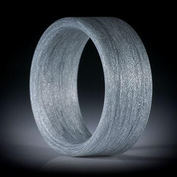 Fingerring aus Alutex gewickelt, innen gerundet, 10mm breit, Innendurchmesser 20.1mm